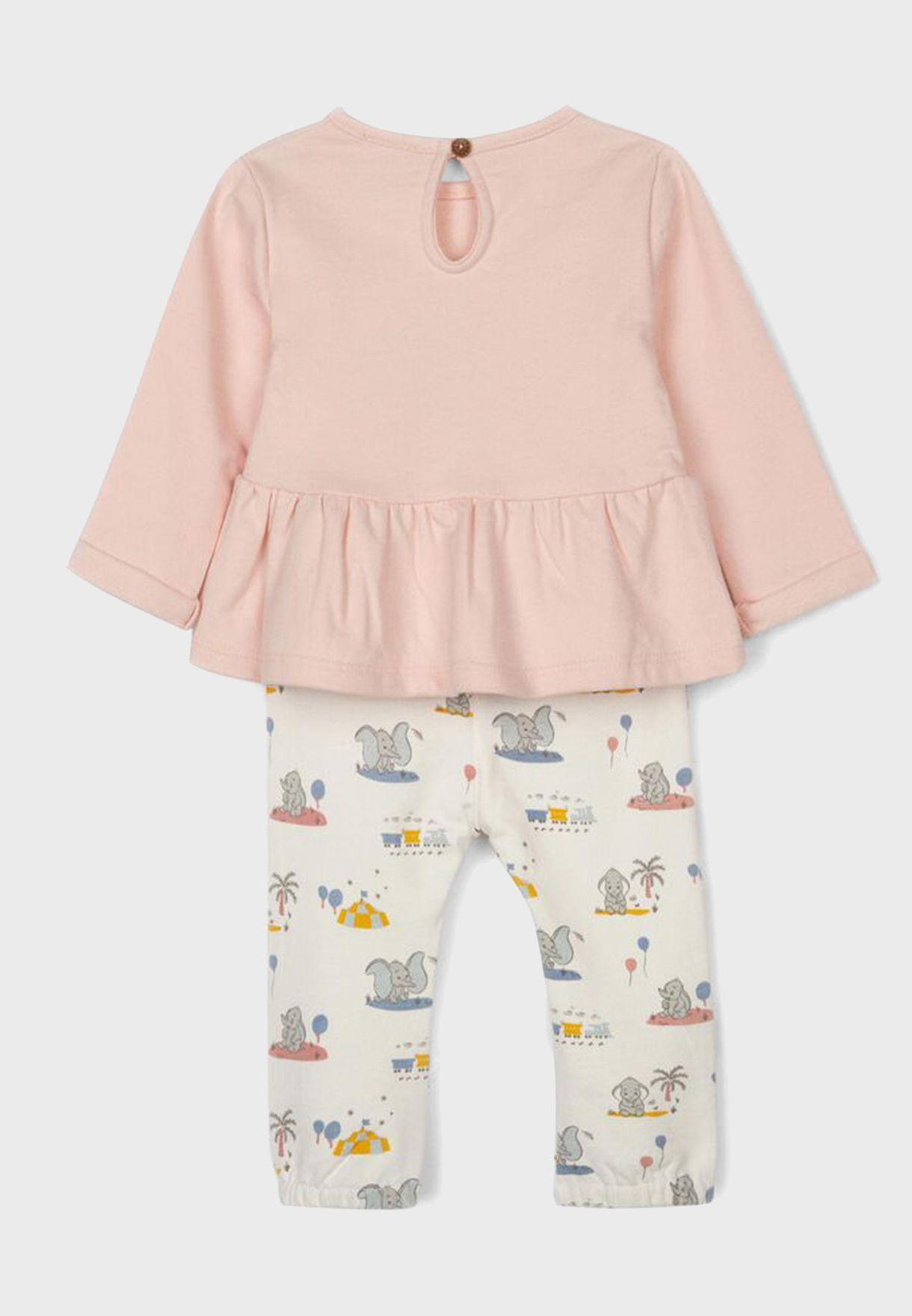 Infant Dumbo Dress + Pants Set