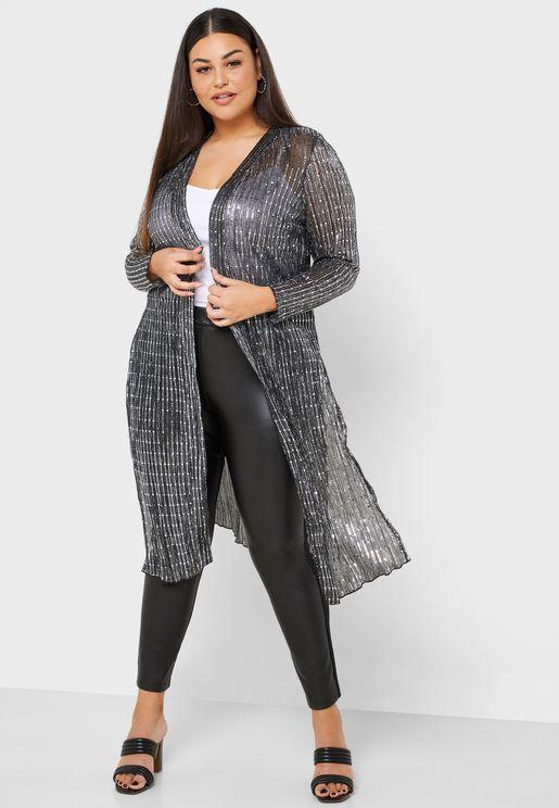 Longline Sequin Kimono