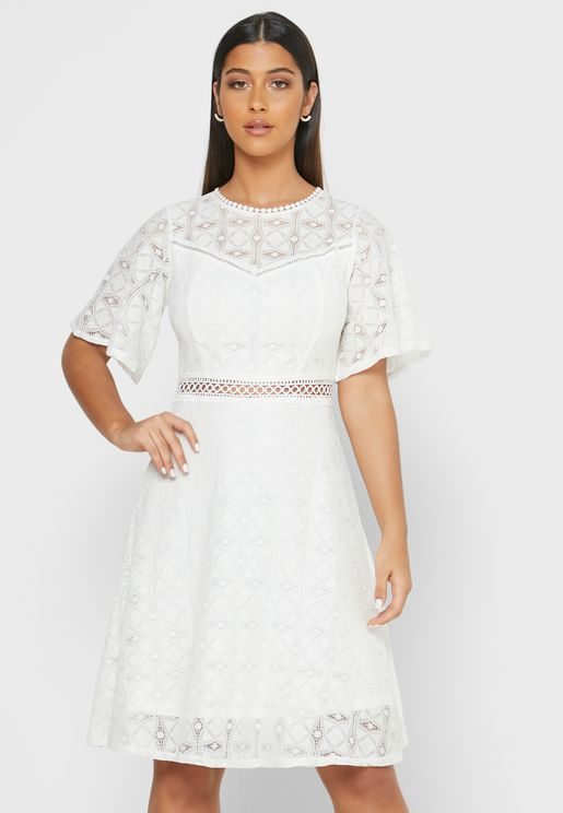 Detailed Lace Midi Dress
