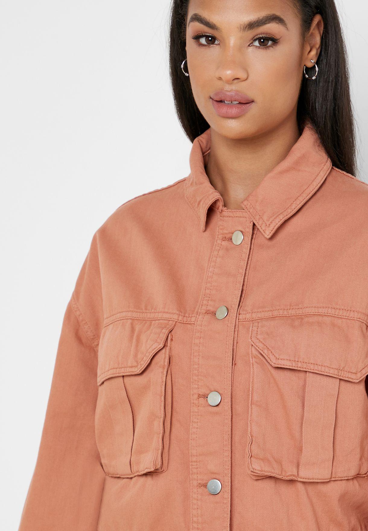 Boxy Utility Denim Jacket