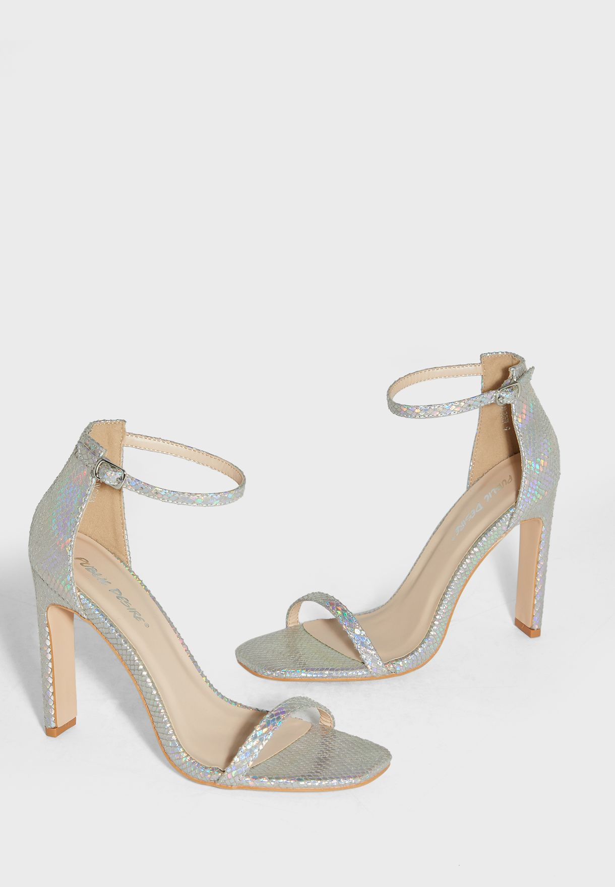 Snapped Ankle Strap Pump