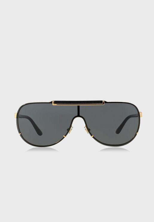 2c38f19352f 0VE2140 Oversized Sunglasses