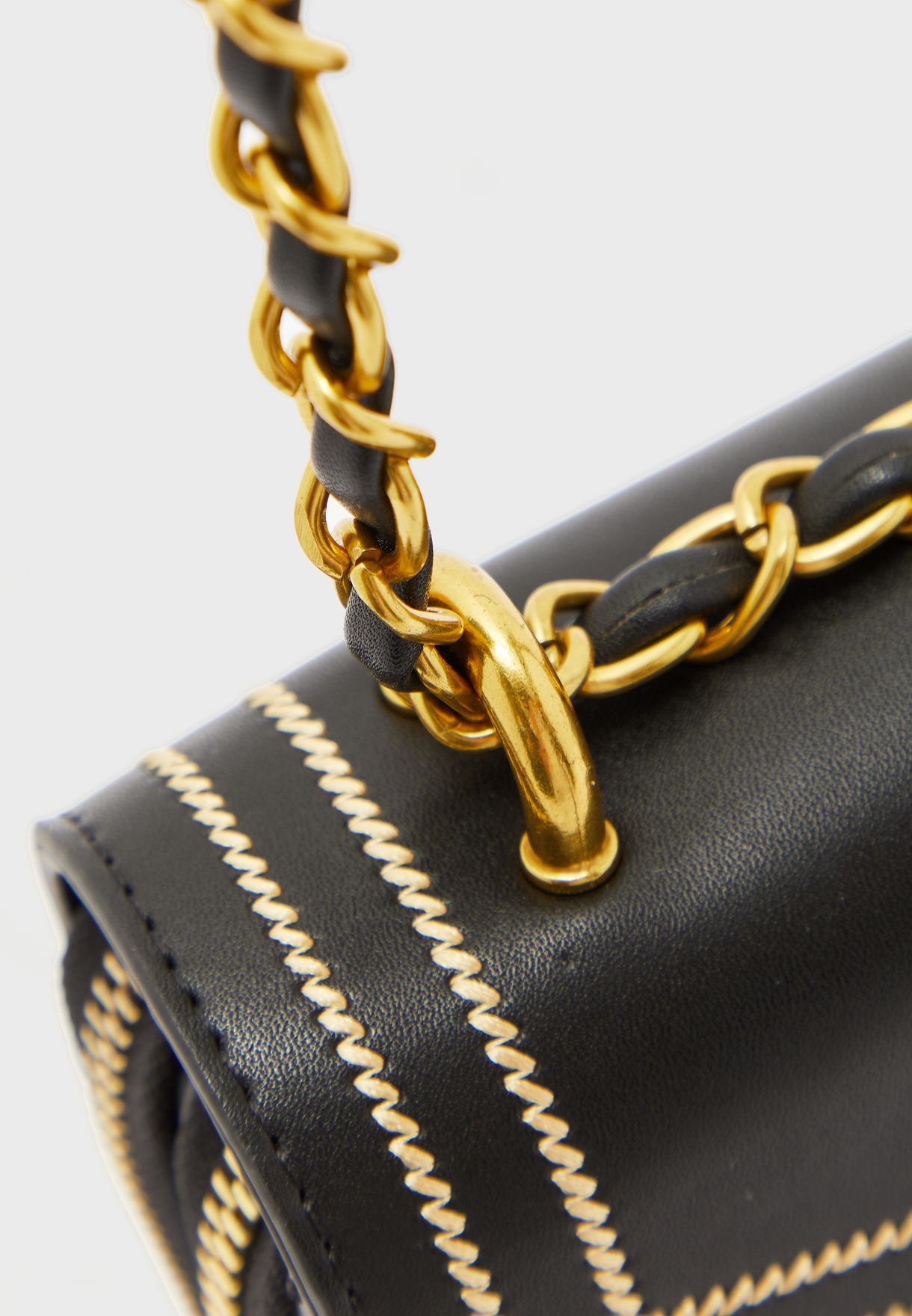 Chain Strap Small Satchel Handbag