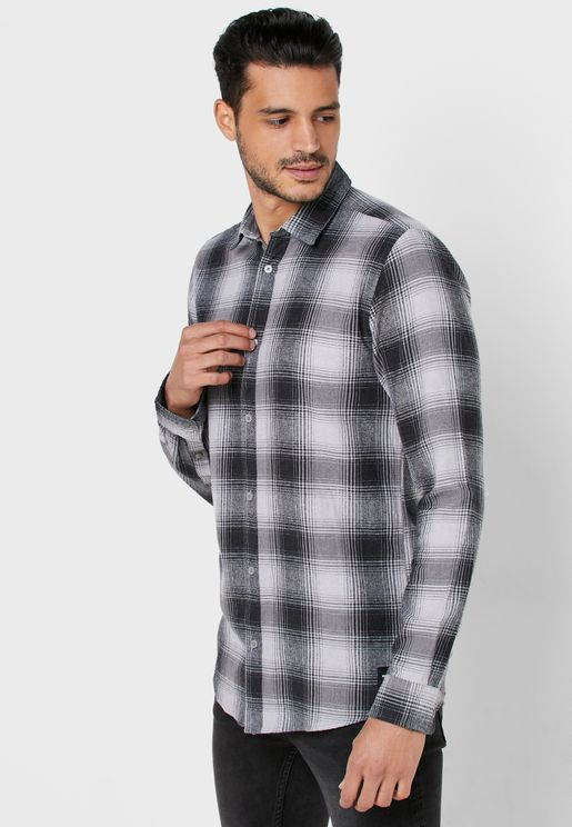 Flannel Checked Slim Fit Shirt