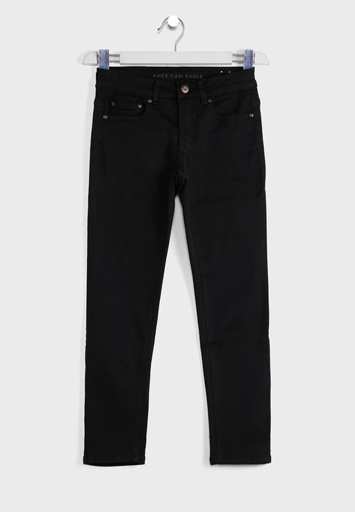 Kids Dark Wash Skinny Fit Jeans