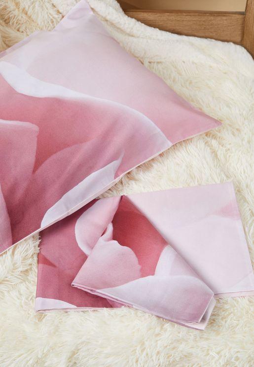 Porcelain Rose Pillowcase Pair 48 x 74cm
