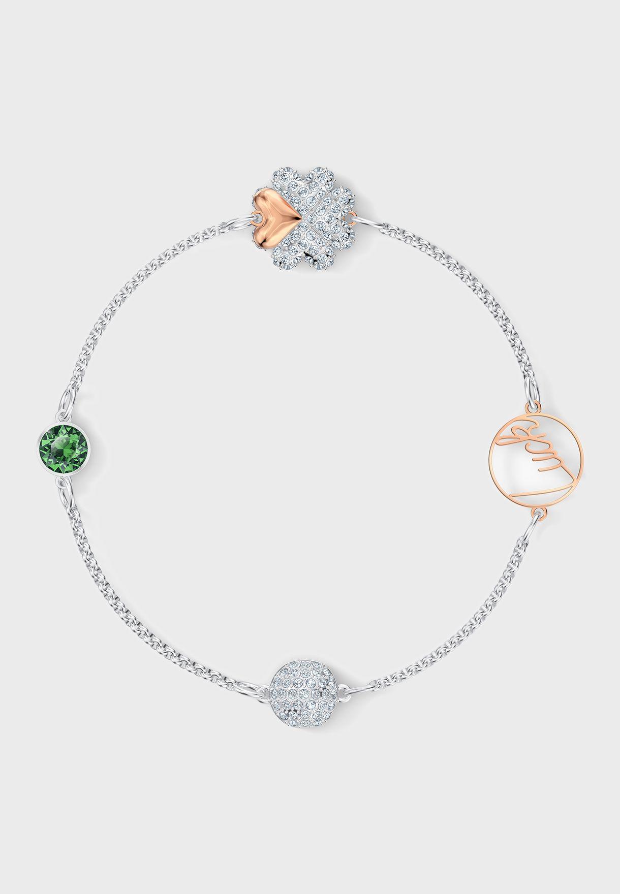 Swa Remix Strand Clover Bracelet