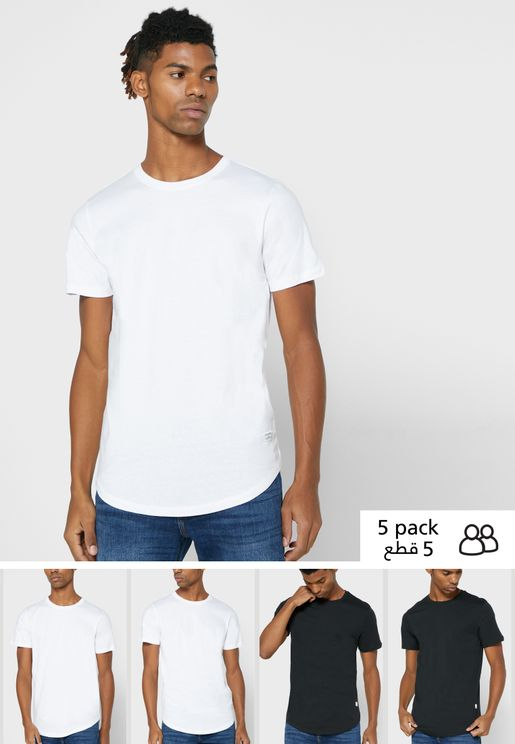 5 Pack Regular Fit Crew Neck T-Shirt