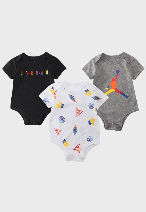 Infant 3 Pack Jordan Bodysuit