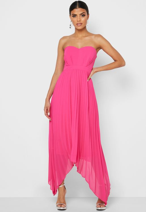 High Low Pleated Cami Dress