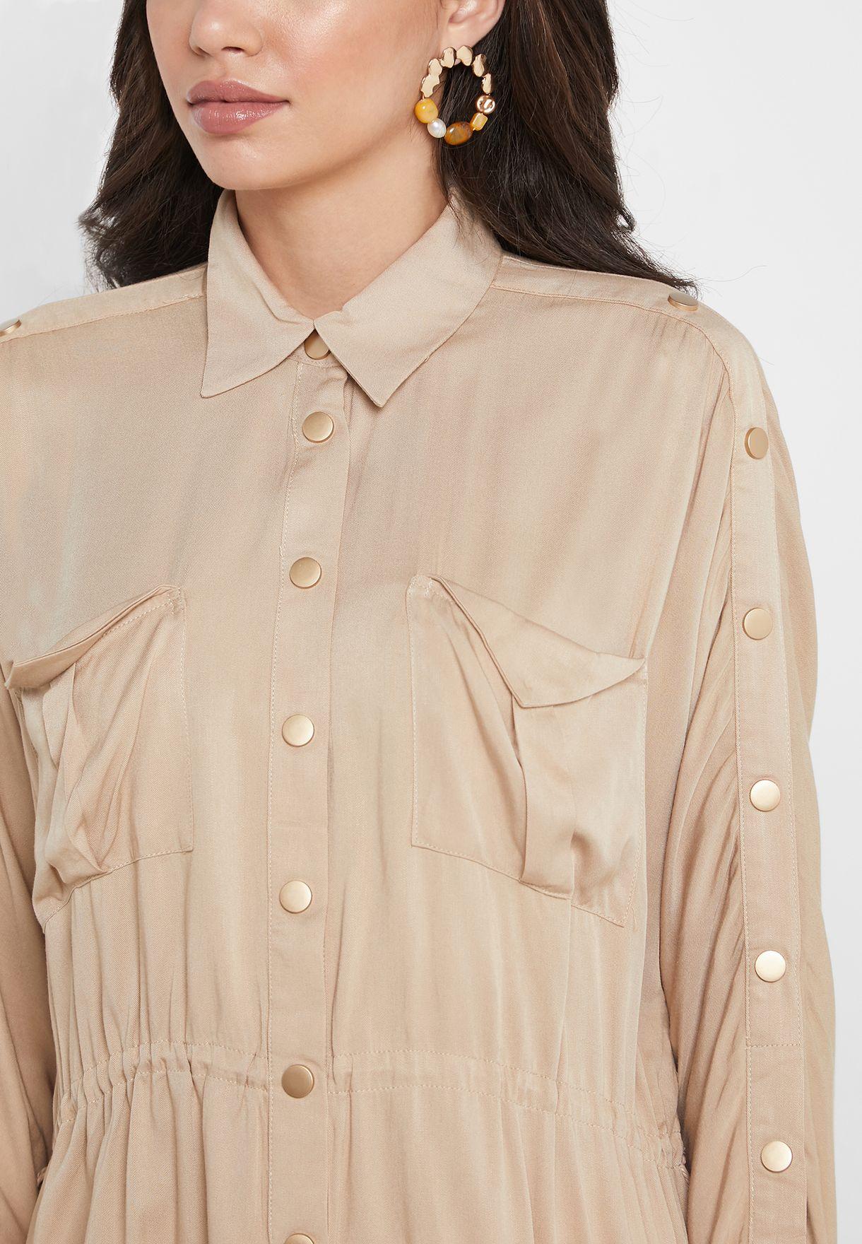 قميص بازرار كبس