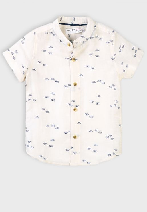 Kids Grandad Collar Shirt