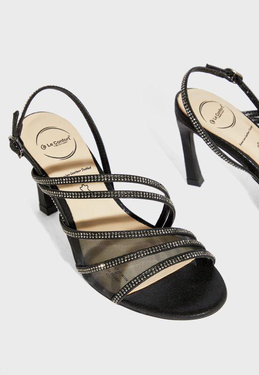 Ankle Strap High-Heel Sandal