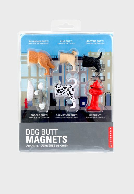 Set of 6 Dog Butt Magnets