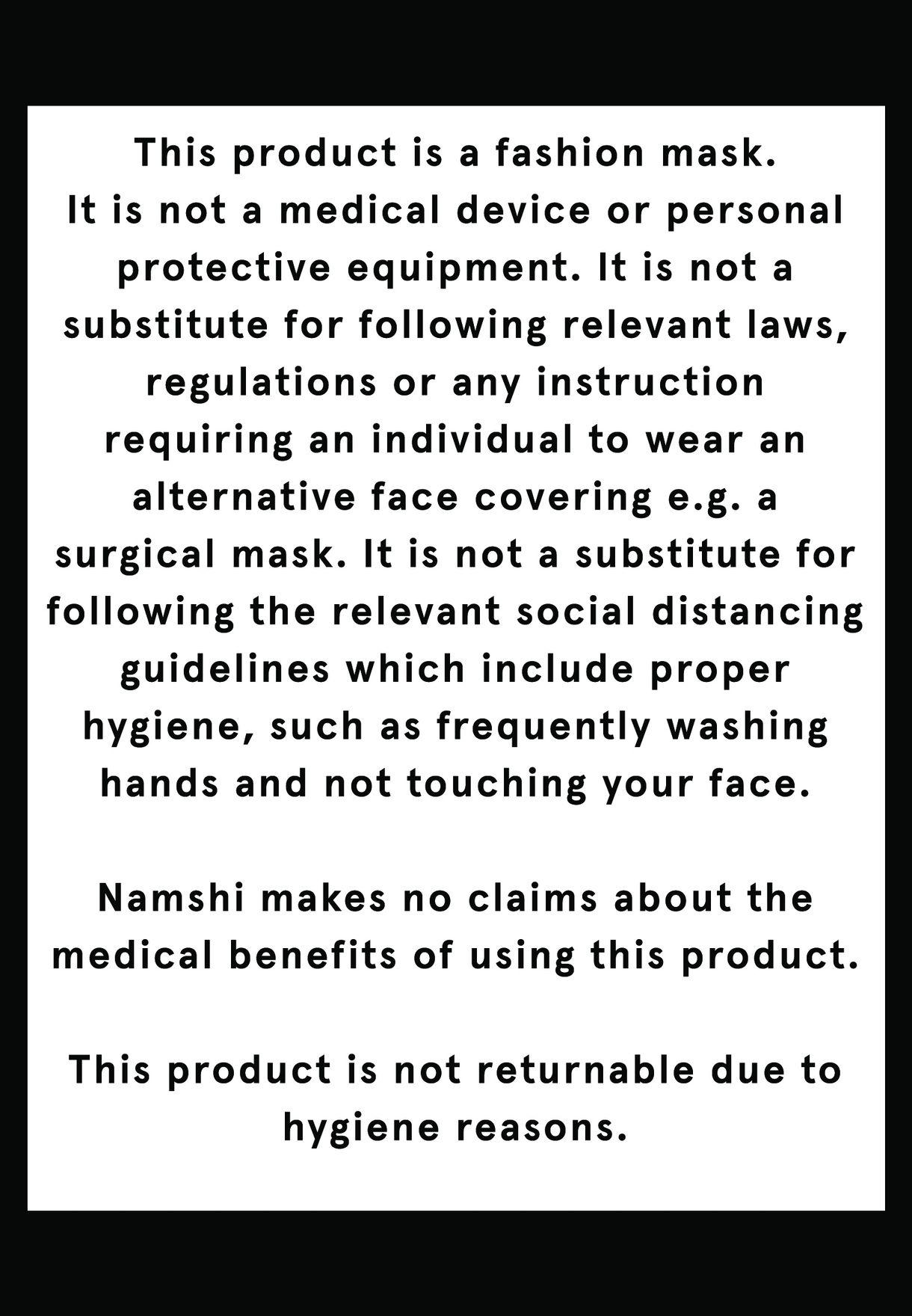 Signature Face Mask