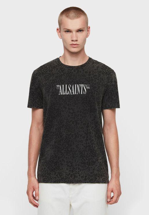 Leopard Print Crew Neck T-Shirt