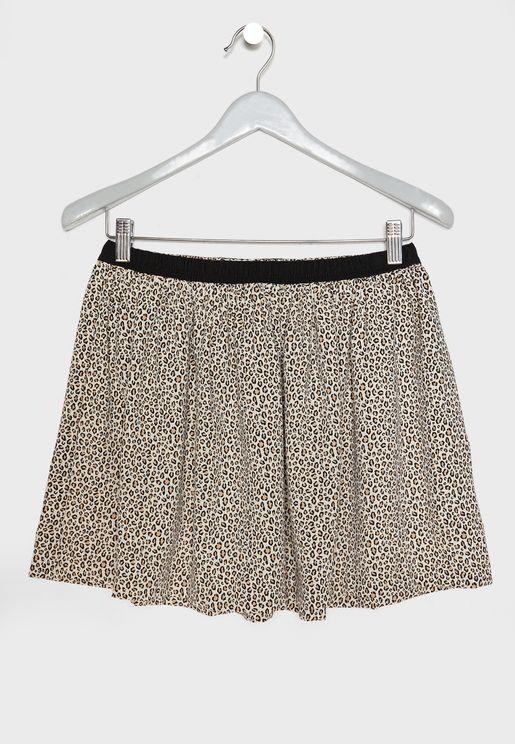 Kids Leopard Print Skirt