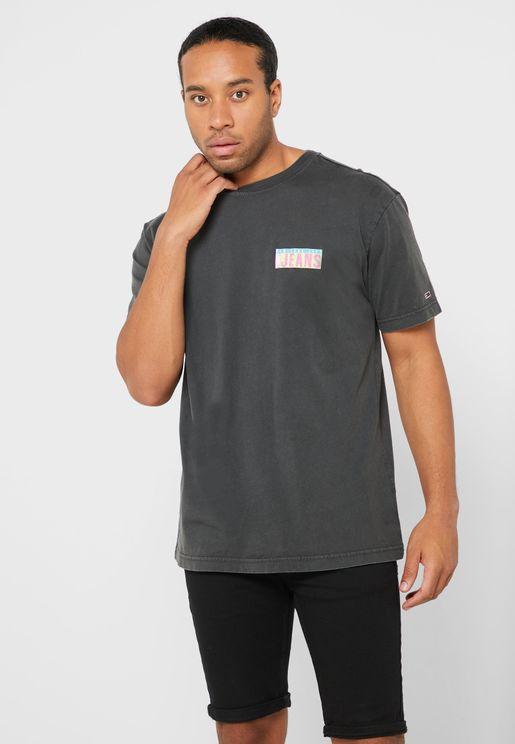 Photo Print Crew Neck T-Shirt