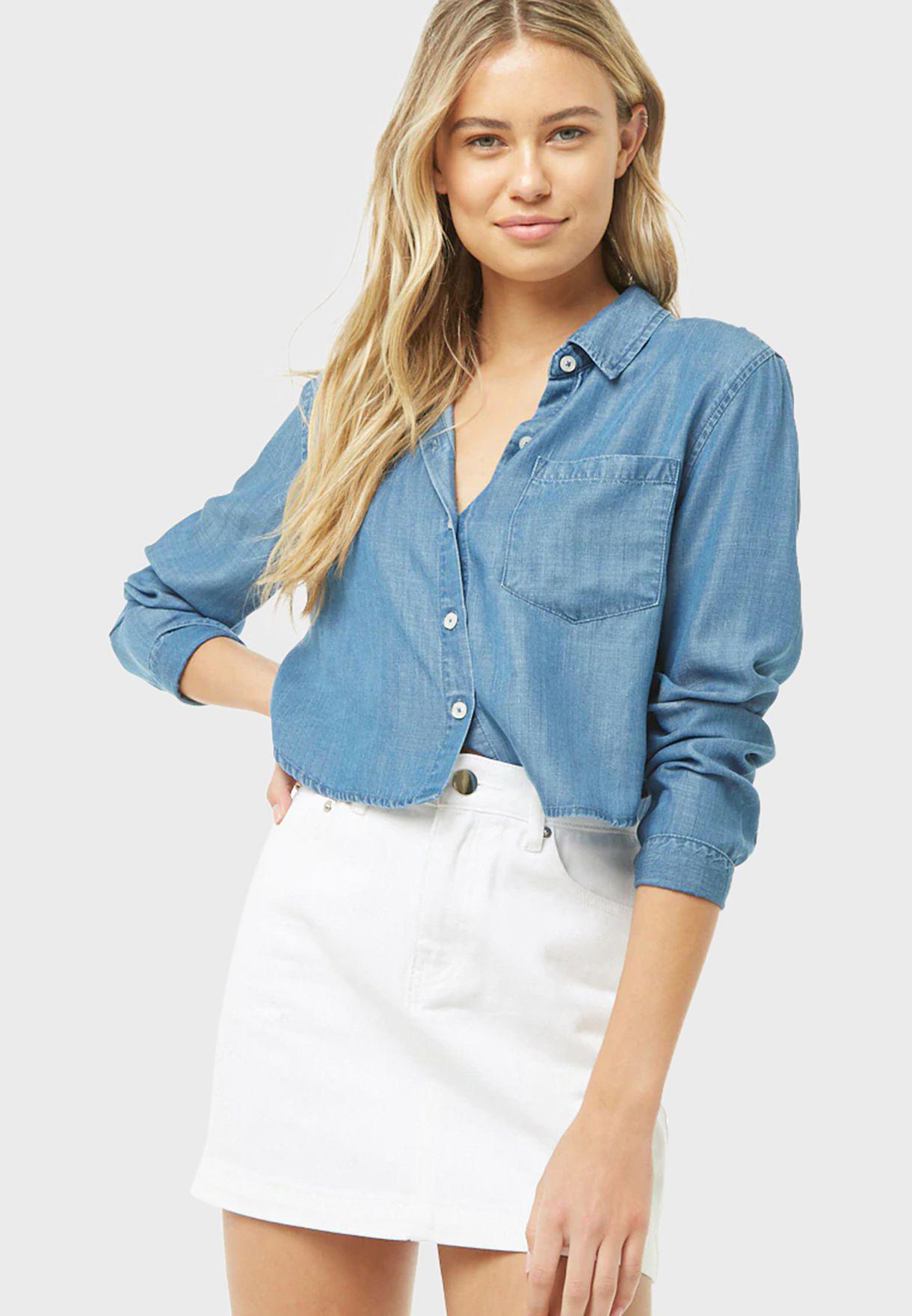 Front Pocket Woven Shirt