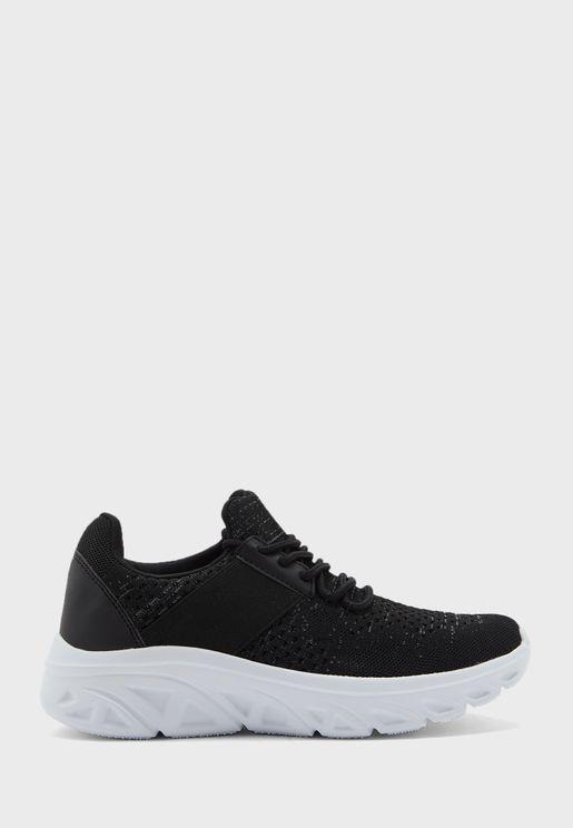 Knit Sporty Sneakers
