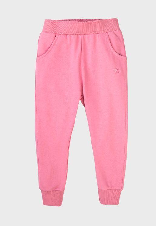 Infant Basic Embroidered Sweatpants