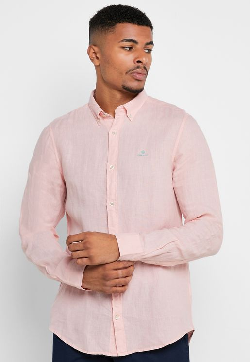 Dyed Button Down Slim Fit Shirt