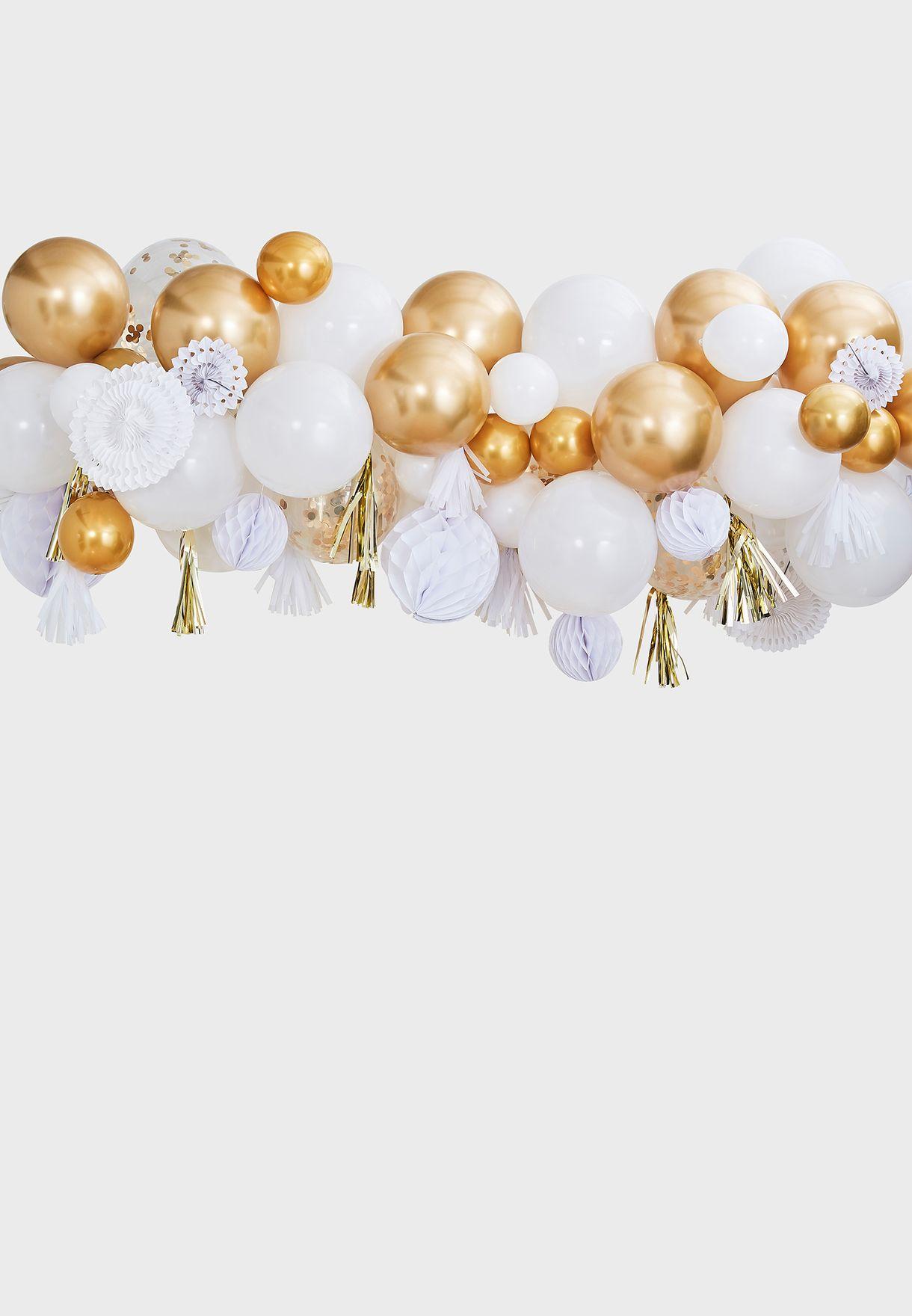 بالونات ذهبية، مراوح لخلفية مميزة