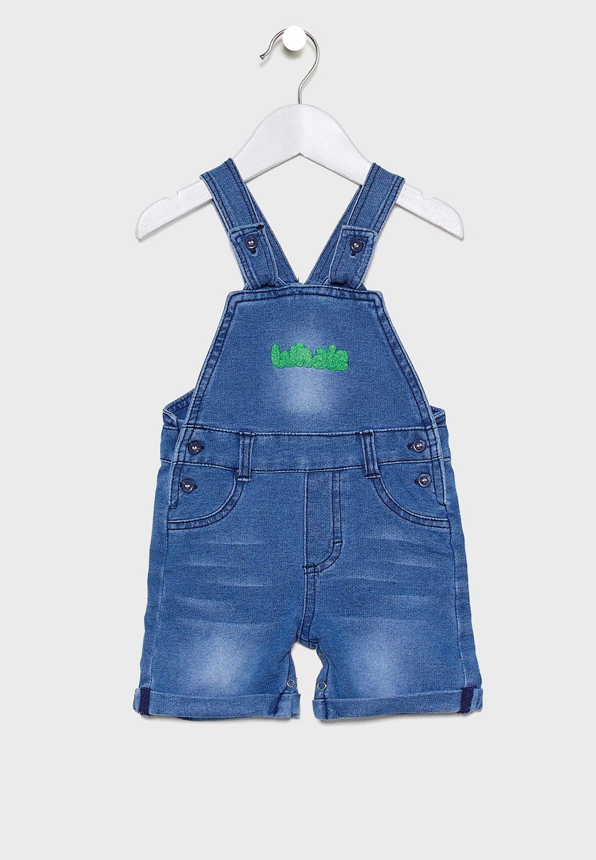 Infant Printed T-Shirt + Dungaree Set
