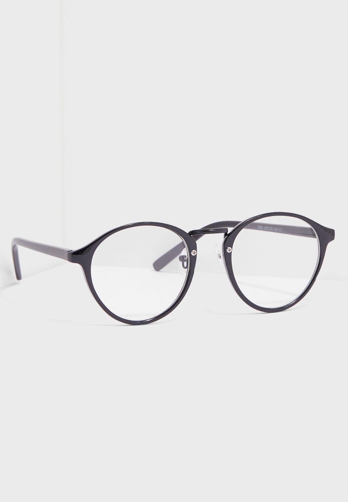 6e2a03d4b2fa Shop Seventy five black Clear Lens Optical Glasses 1850 for Men in ...