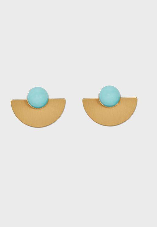 Heart Beads Drop Earrings
