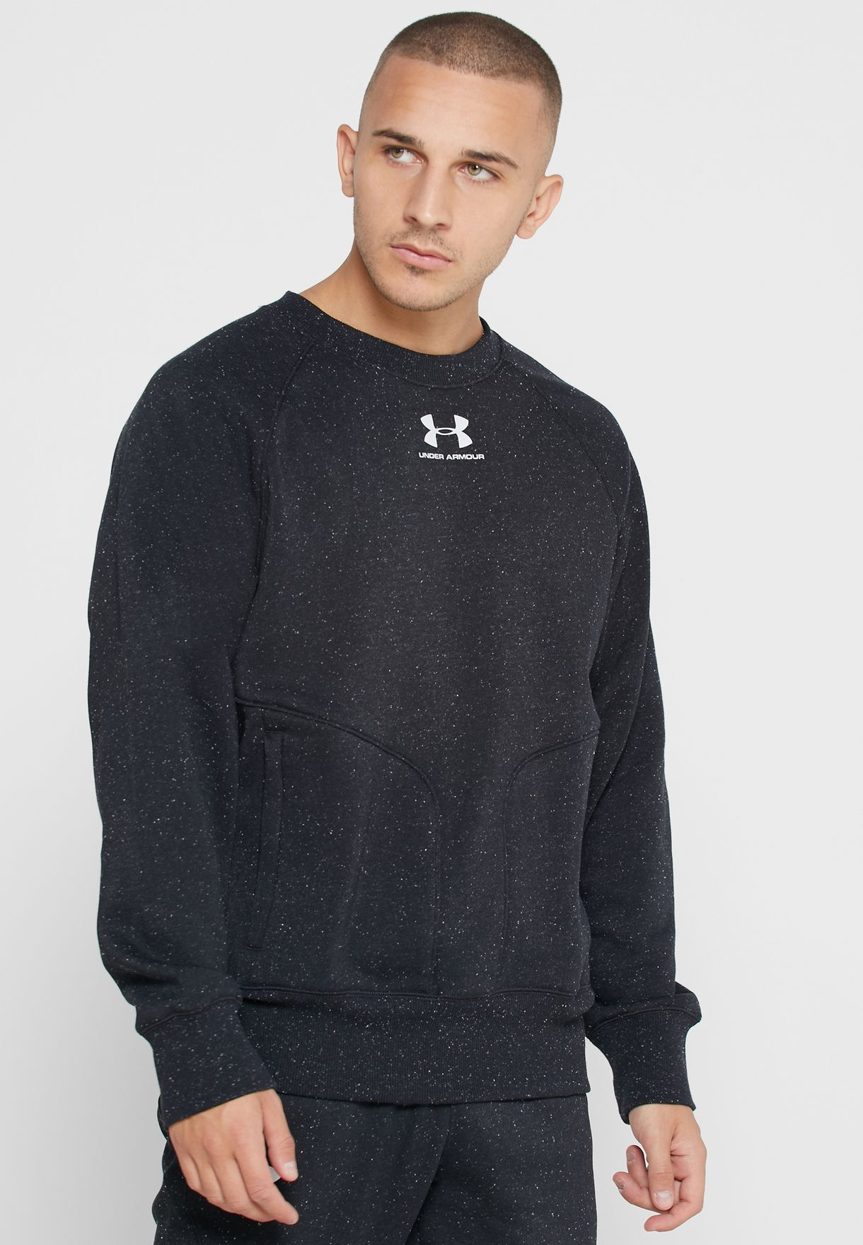 Speckled Fleece Sweatshirt