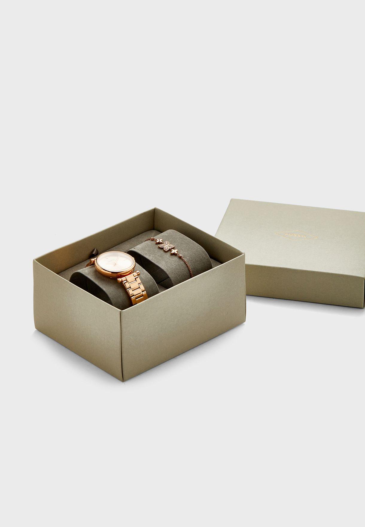 ES4685SET Carlie Analog Watch + Bracelet Set