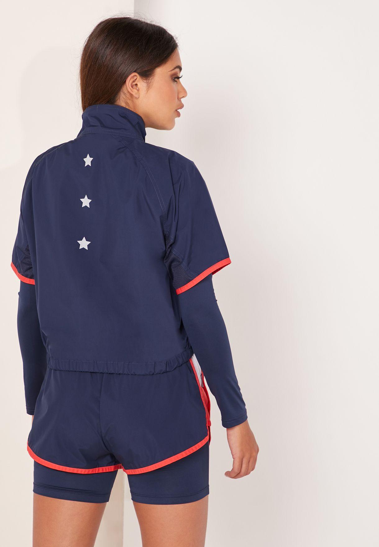 Colour Block Stars Shell Sweatshirt