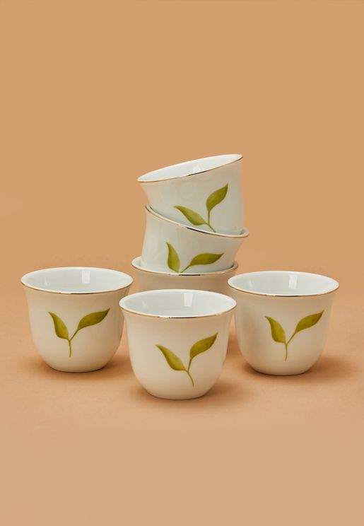 6-Piece Leaf Chappe Cups