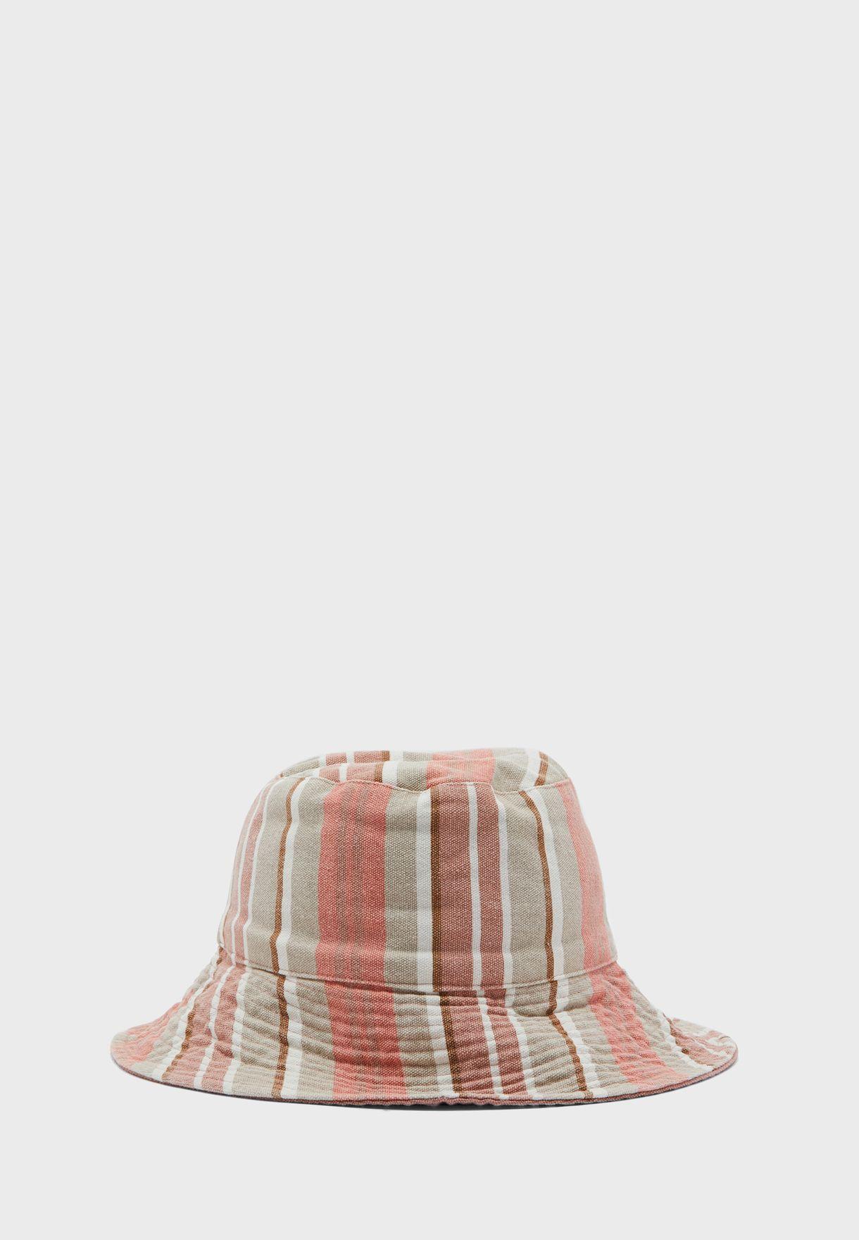 Checkered Print Bucket Hat