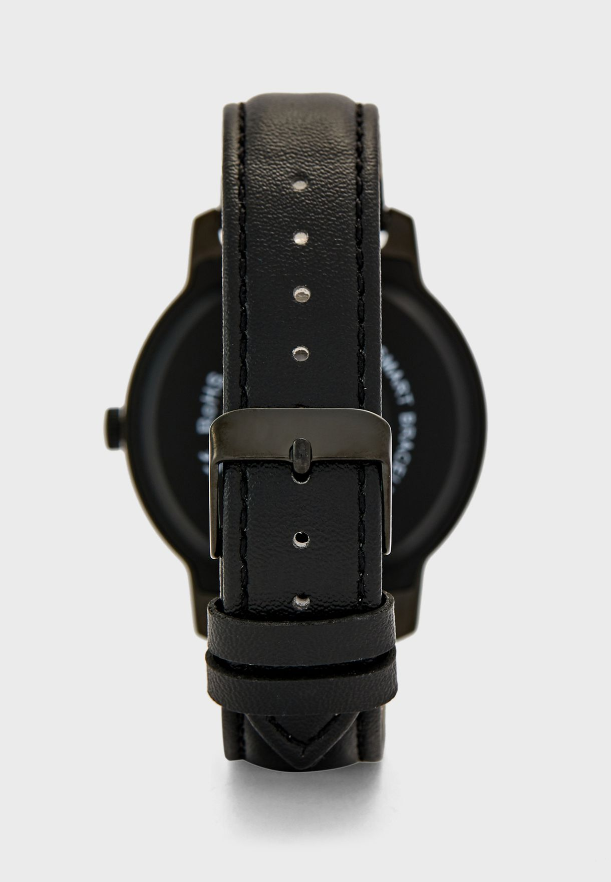 Leather Strap Smart Watch with Heart Rate Measure