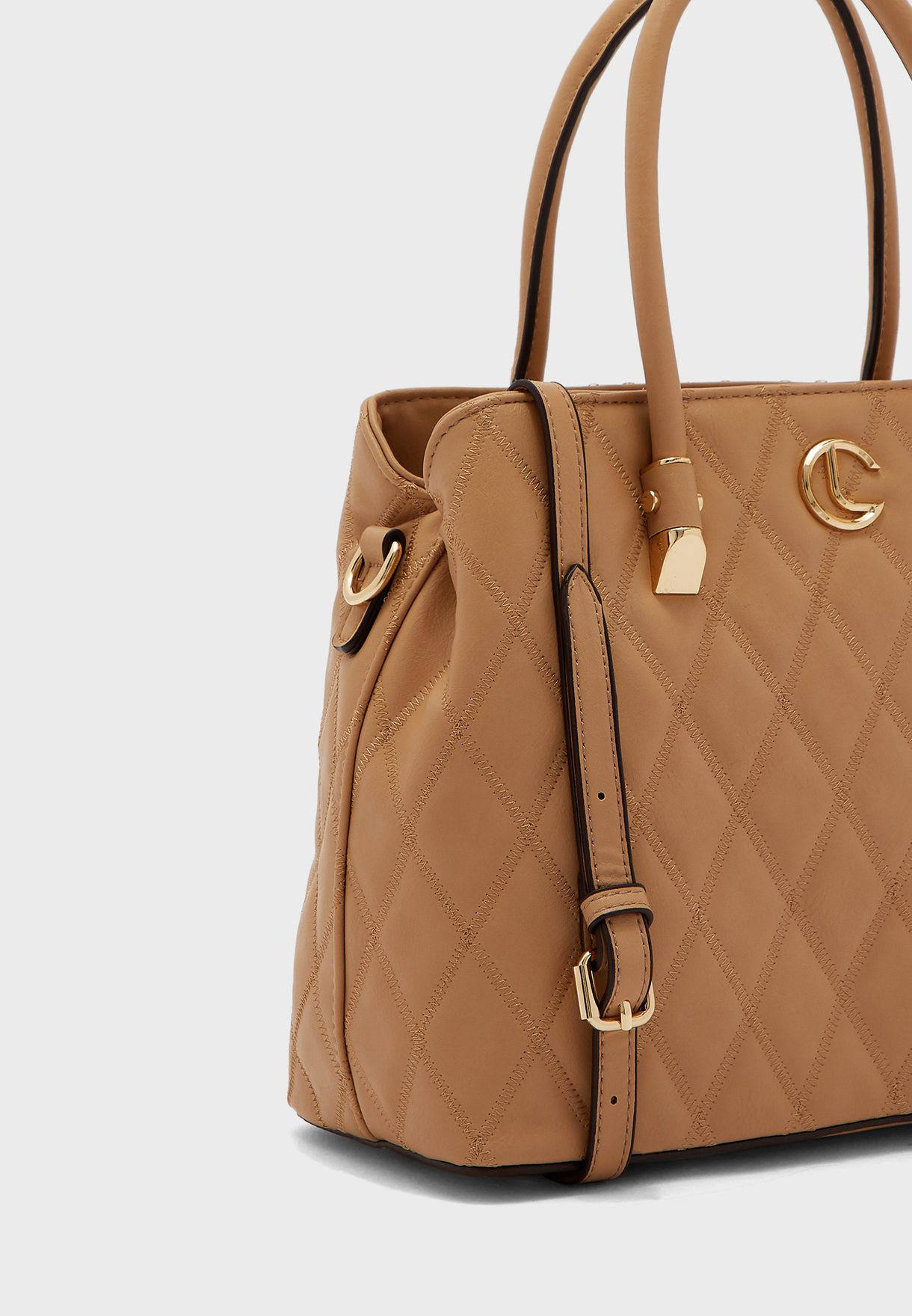 Double Handle Quilted Tote