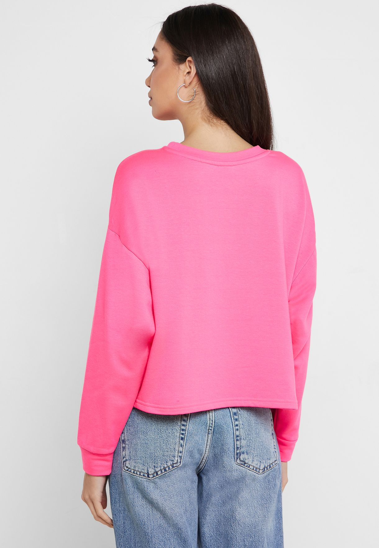 Neon Drop Shoulder Sweatshirt