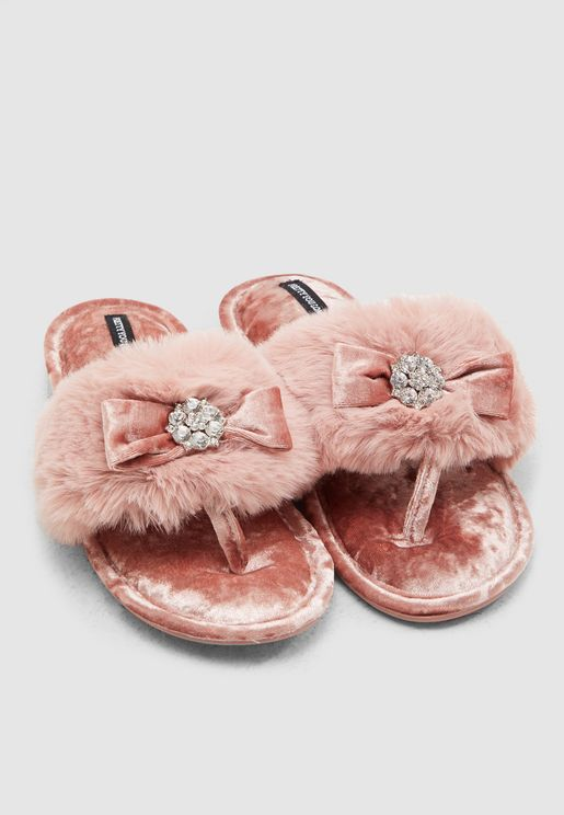 Soft Fur Bedroom Slipper