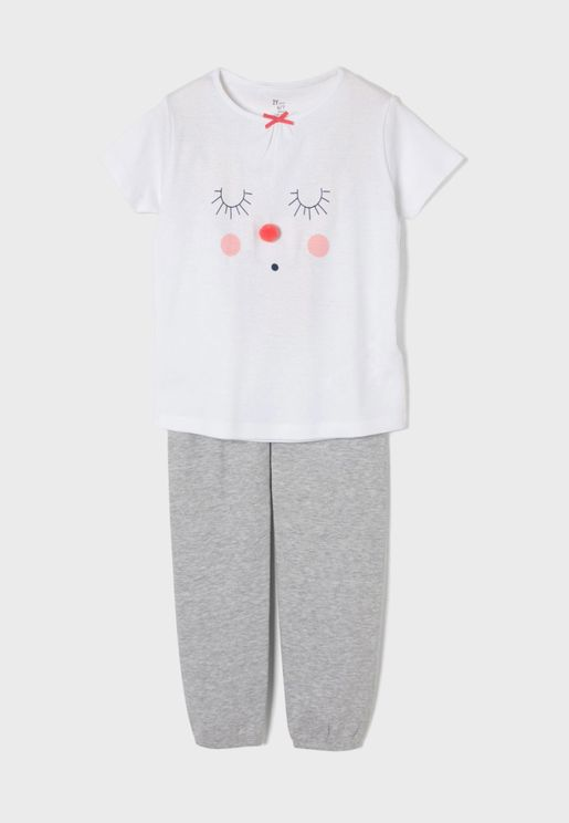 Infant Embossed Face Pyjama Set