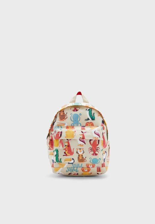 Kids Colourful Creatures Mini Backpack