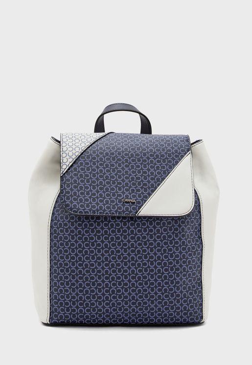 Flap Over Tassel Detail Backpack