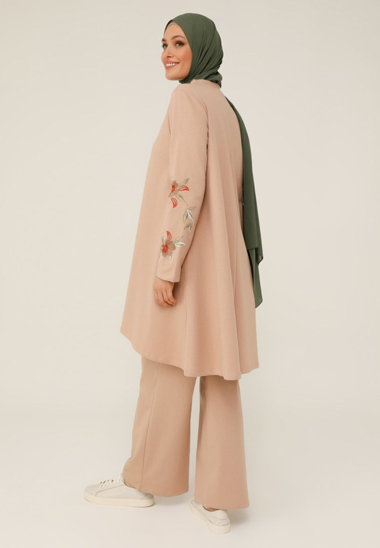 Embroidered Top & Pants Set