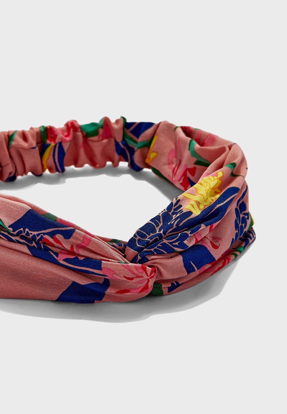 ربطة رأس بطباعة زهور