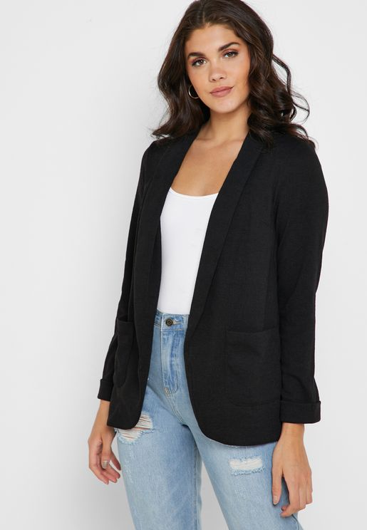 c65fa0765a21 ... buy jackets online at Namshi to experience a seamless shopping  experience and fast delivery. Pocket Detail Open Front Blazer