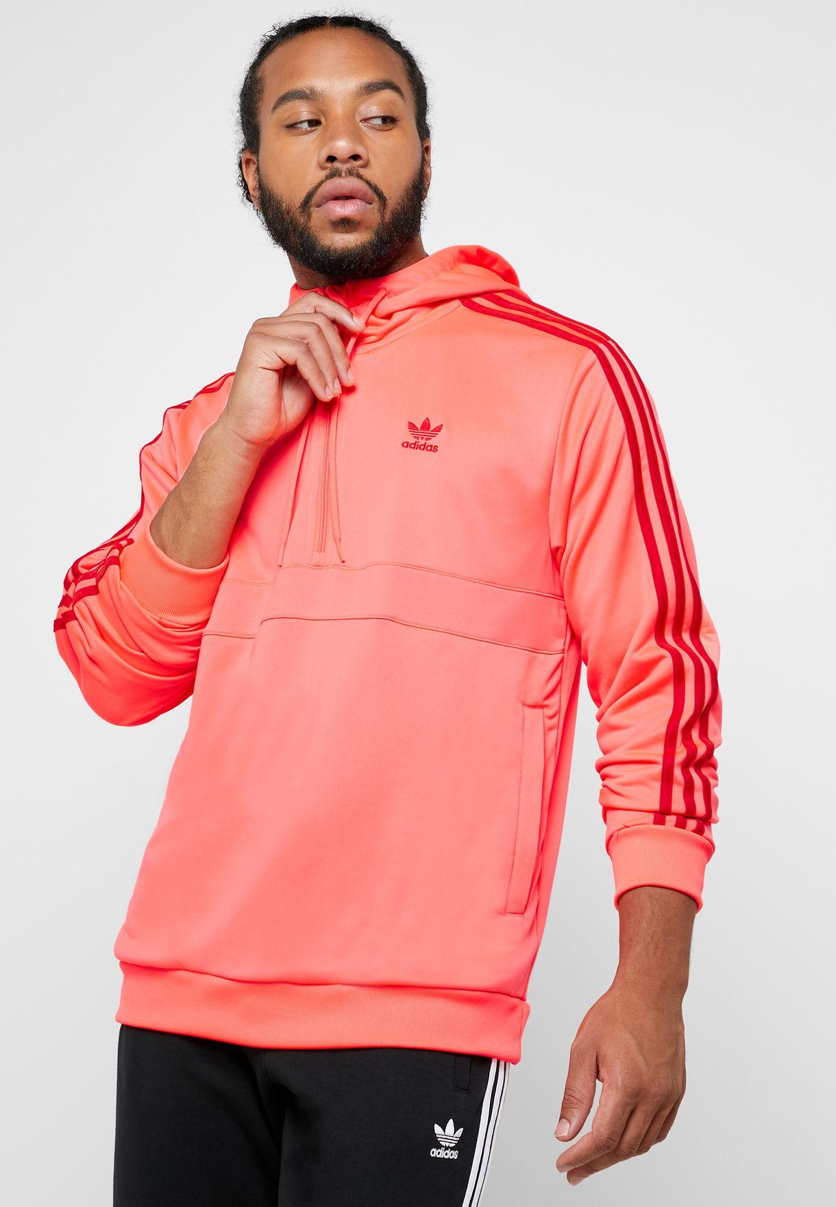 Posdata Desventaja ornamento  Buy adidas Originals pink 3 Stripe Hoodie for Men in MENA, Worldwide    EJ9686