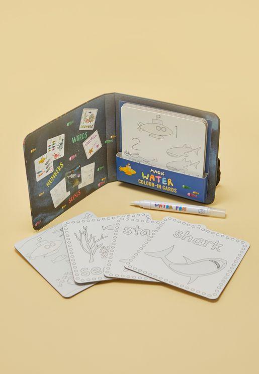 لعبة بطاقات وقلم سحري