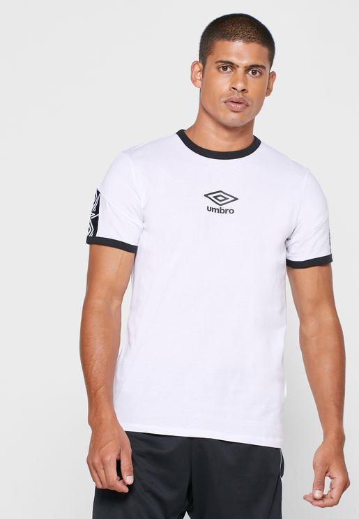 Ringer Taped Logo T-Shirt