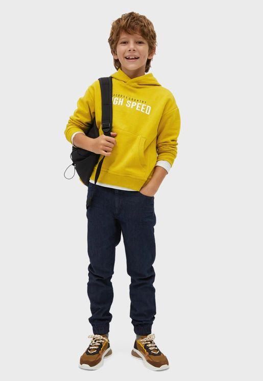 Kids Tie Waist Jogg Jeans