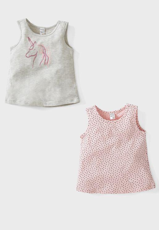 Infant 2 Pack Assorted Vest